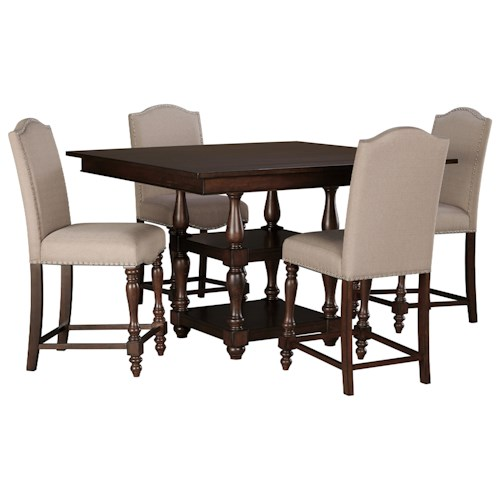 Signature design by ashley baxenburg 5 piece square dining for Dining room table 32 wide