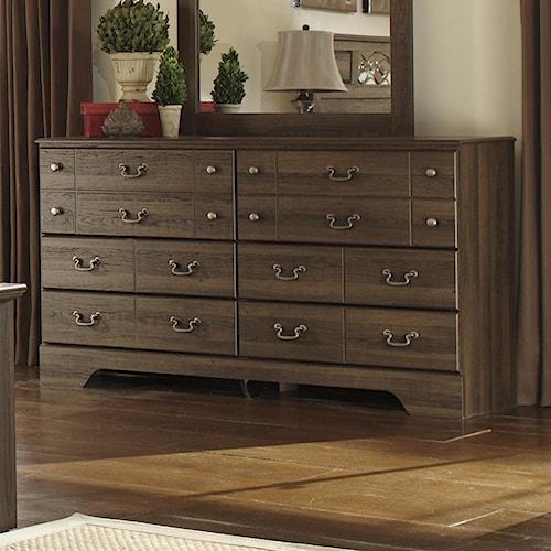 Signature design by ashley allymore 6 drawer dresser for 12 inch depth dresser