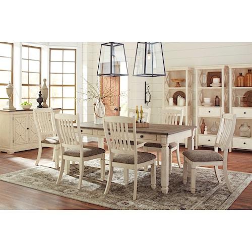 bolanburg casual dining room group belfort furniture. Black Bedroom Furniture Sets. Home Design Ideas