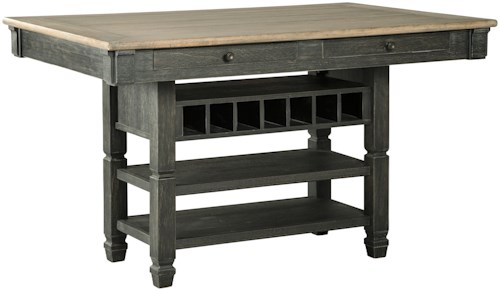 Signature design by ashley tyler creek relaxed vintage for 32 wide dining table