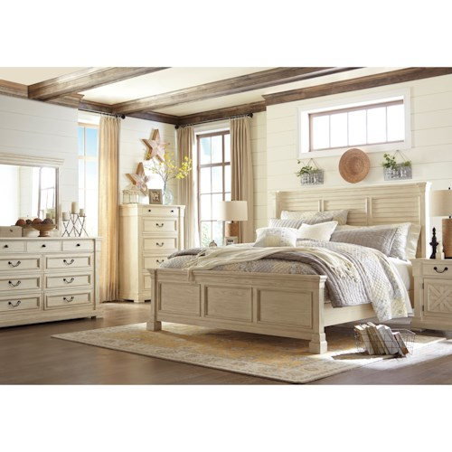 Signature design by ashley bolanburg queen bedroom group for Bedroom groups