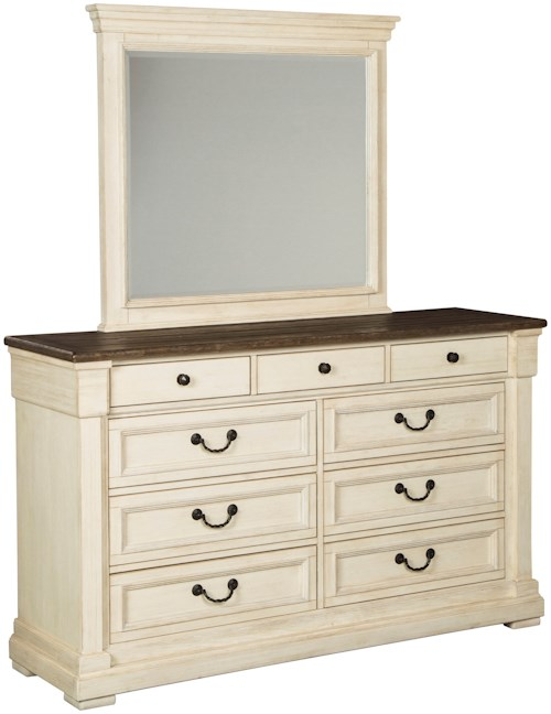 Signature design by ashley bolanburg two tone dresser for Furniture 0 percent financing