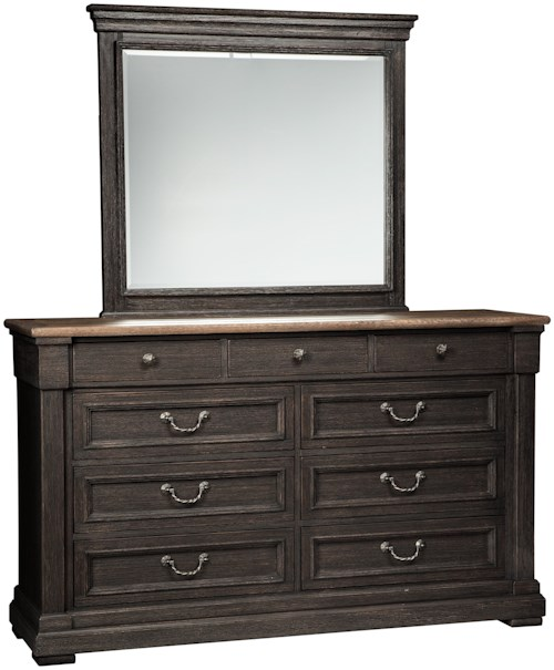 Signature Design By Ashley Tyler Creek Two Tone Dresser Bedroom Mirror Wayside Furniture