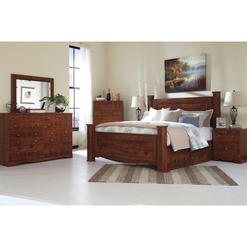 Signature design by ashley brittberg king bedroom group for Bedroom groups
