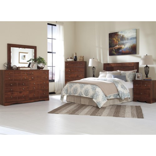 Signature design by ashley brittberg queen full bedroom Bedroom furniture stores indianapolis