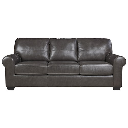 Signature Design By Ashley Canterelli Leather Match Queen Sofa Sleeper Rife 39 S Home Furniture