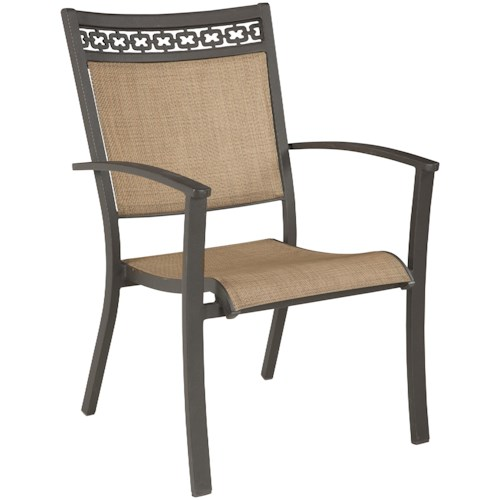 signature design by ashley carmadelia outdoor sling chair standard furniture outdoor dining. Black Bedroom Furniture Sets. Home Design Ideas