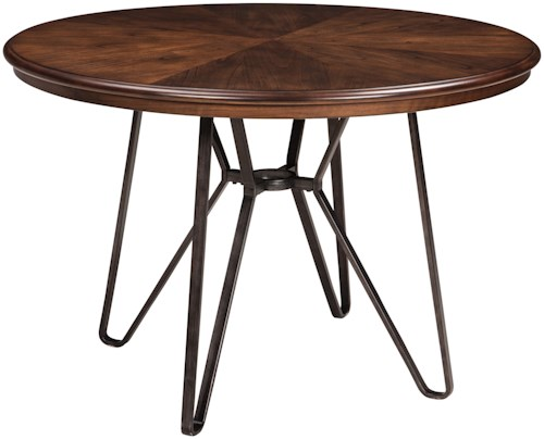 Signature design by ashley centiar d372 15 round dining for Furniture 0 percent financing