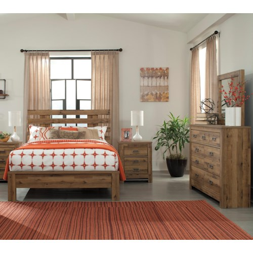 Signature design by ashley cinrey queen bedroom group for Bedroom groups