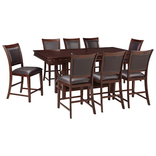 Signature design by ashley collenburg 9 piece counter for Dining room table 32 wide
