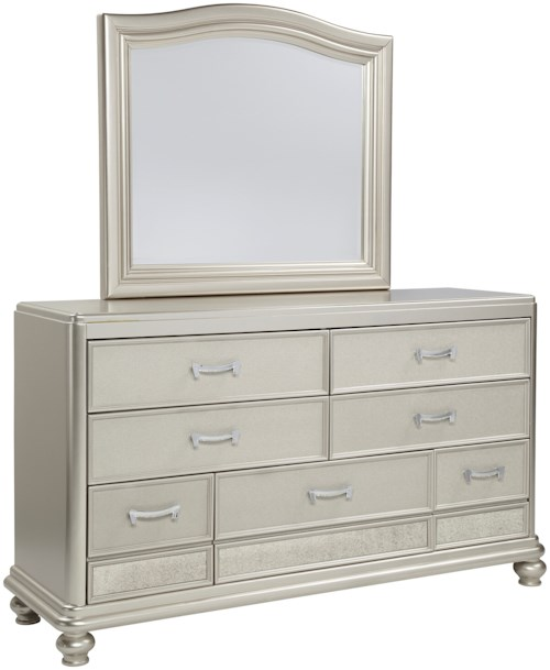 Signature Design By Ashley Coralayne Dresser Arched Bedroom Mirror Boulevard Home