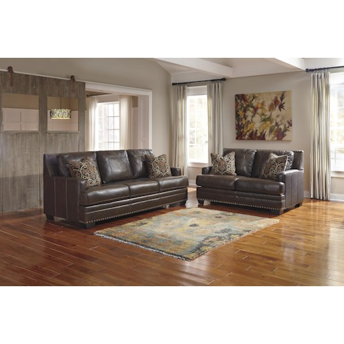 Signature design by ashley corvan stationary living room for Living room furniture groups