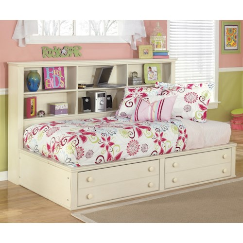 Signature design by ashley cottage retreat twin bookcase for Cottage retreat ii bed