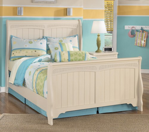 Signature design by ashley cottage retreat full sleigh bed for Cottage retreat ii bed