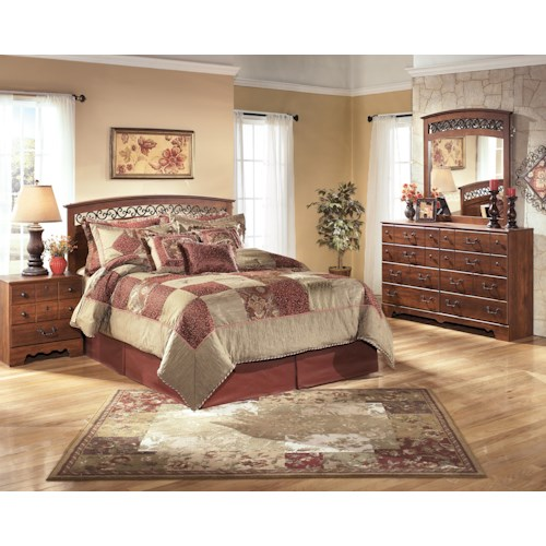 Signature design by ashley timberline queen full bedroom for Bedroom groups