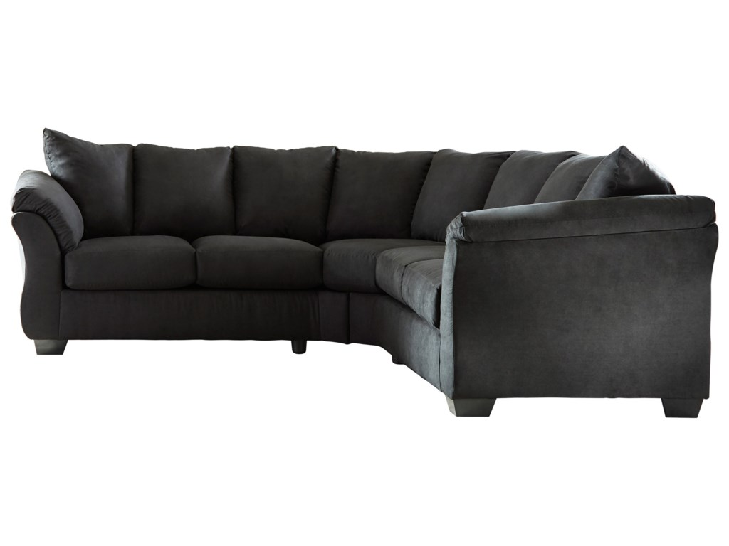 Black Fabric Sectional Sofas Tuxedo Black Fabric Sectional