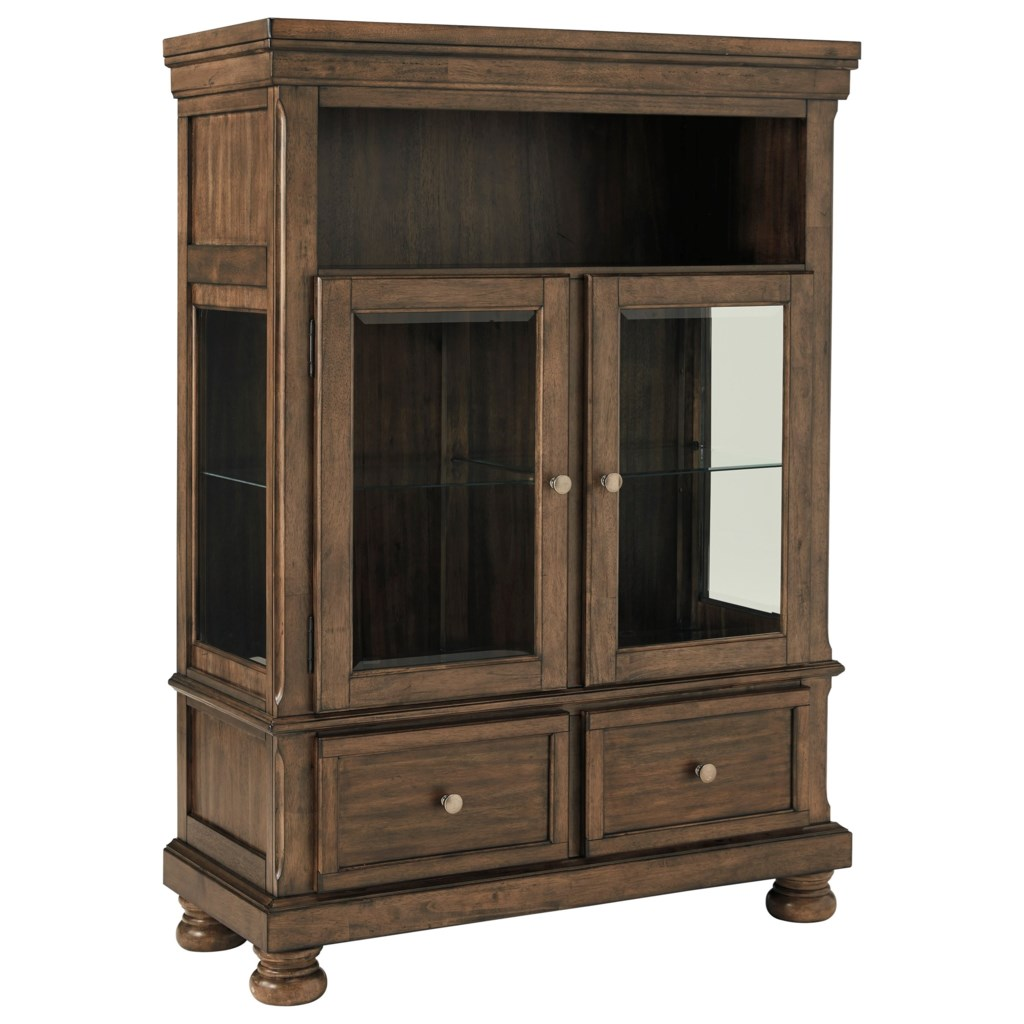 New Signature Design by Ashley Flynnter Dining Curio with Glass  BP61