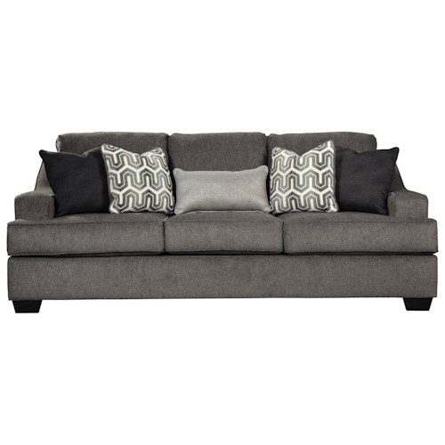signature design by ashley gilmer contemporary sofa with track arms wayside furniture sofas. Black Bedroom Furniture Sets. Home Design Ideas
