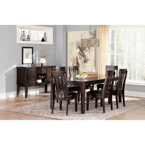 signature design by ashley haddigan casual dining room. Black Bedroom Furniture Sets. Home Design Ideas