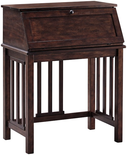 Signature design by ashley harpan home office drop front for New england style desk