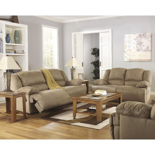 Signature Design By Ashley Hogan Mocha Reclining Living Room Group Colder 39 S Furniture And