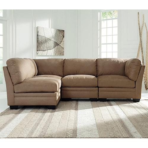 Signature design by ashley iago 4 piece modular sectional for Modular sectional sofa