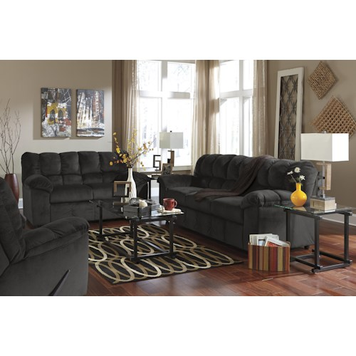 Signature Design By Ashley Julson Ebony Stationary Living Room Group Colder 39 S Furniture And