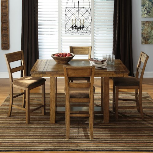 Signature design by ashley krinden 5 piece counter for Dining room table 32 wide