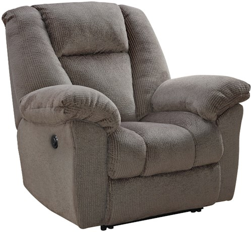 Signature design by ashley nimmons 3630106 power recliner for Furniture 0 percent financing