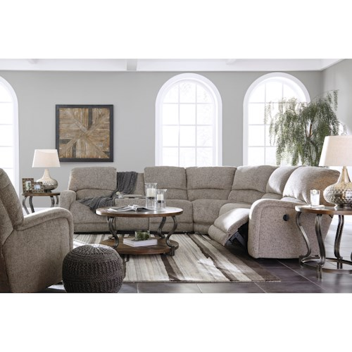 Signature Design By Ashley Pittsfield Reclining Living Room Group Pilgrim F