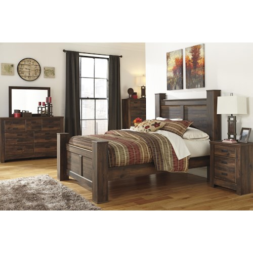 Signature design by ashley quinden queen bedroom group for Bedroom furniture queens ny