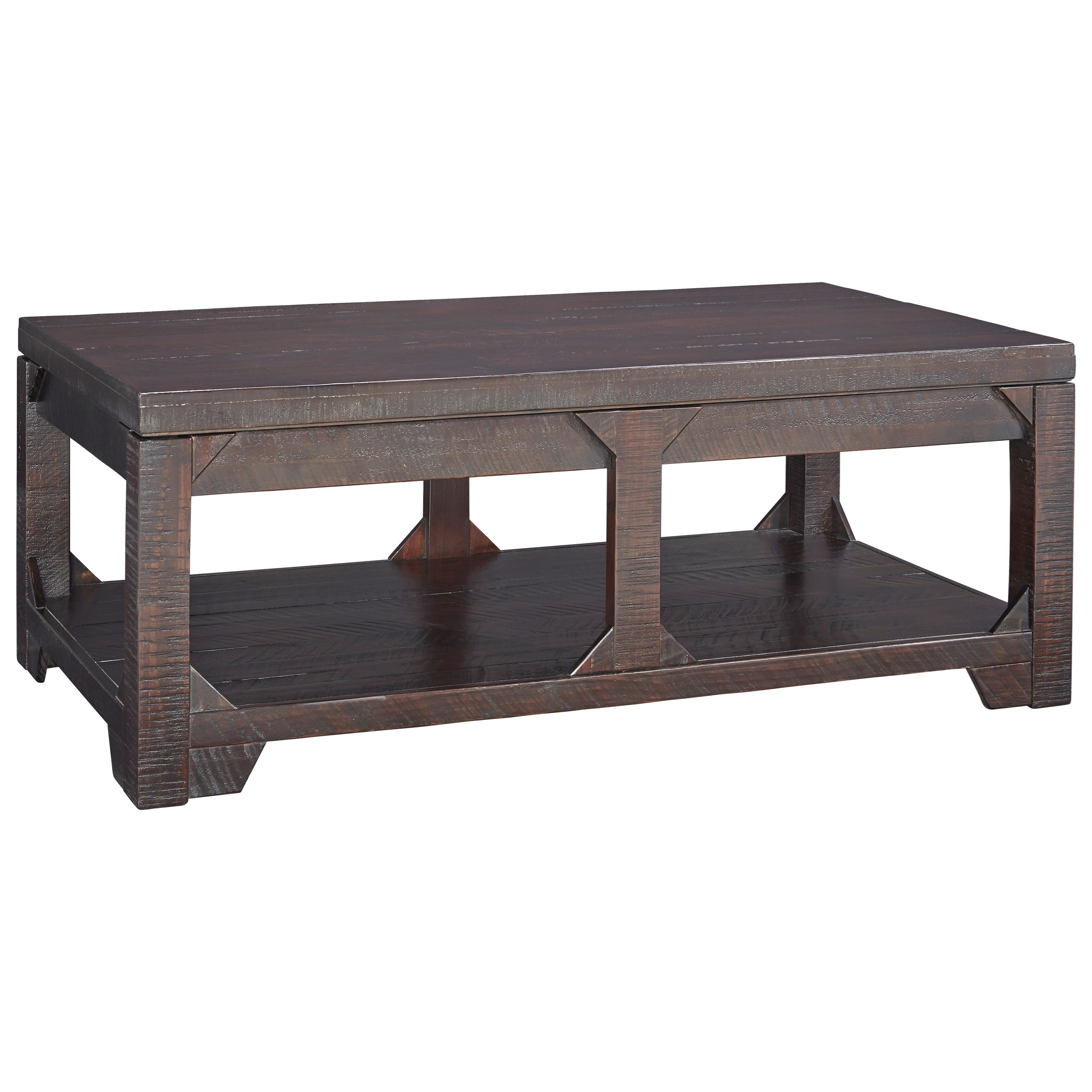 Signature Design by Ashley Rogness Rustic Lift Top Cocktail Table