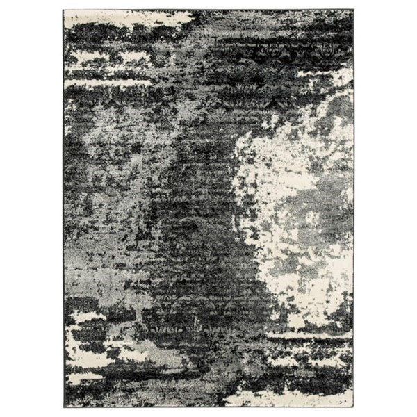 Contemporary Area Rugs Roskos Black Gray Large Rug