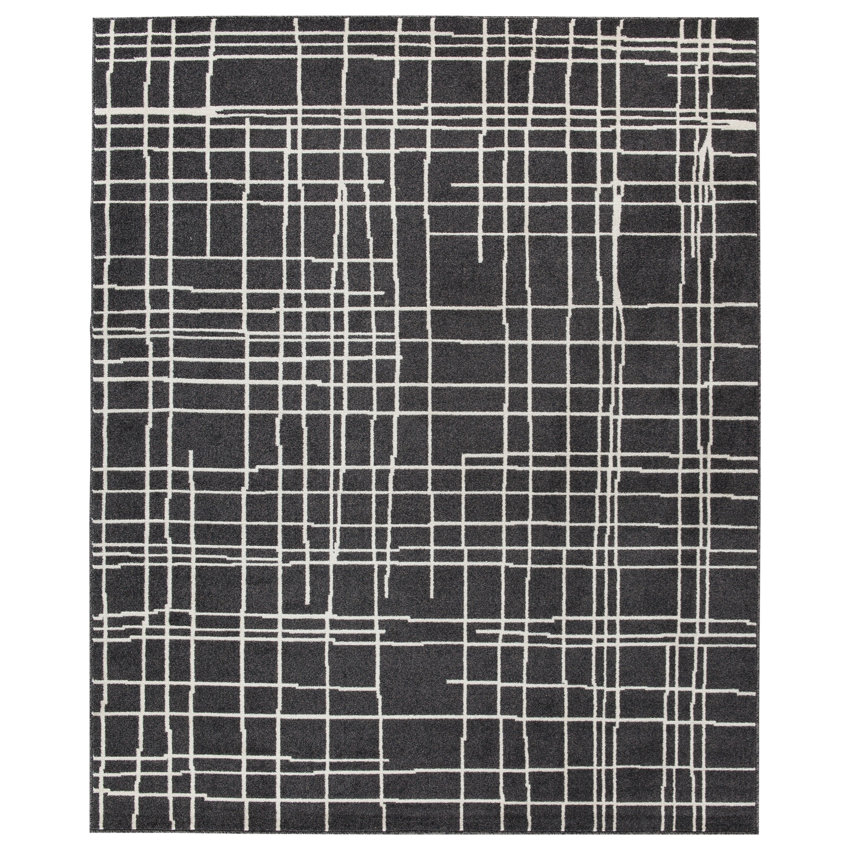 Contemporary Area Rugs Jai Black White Large Rug