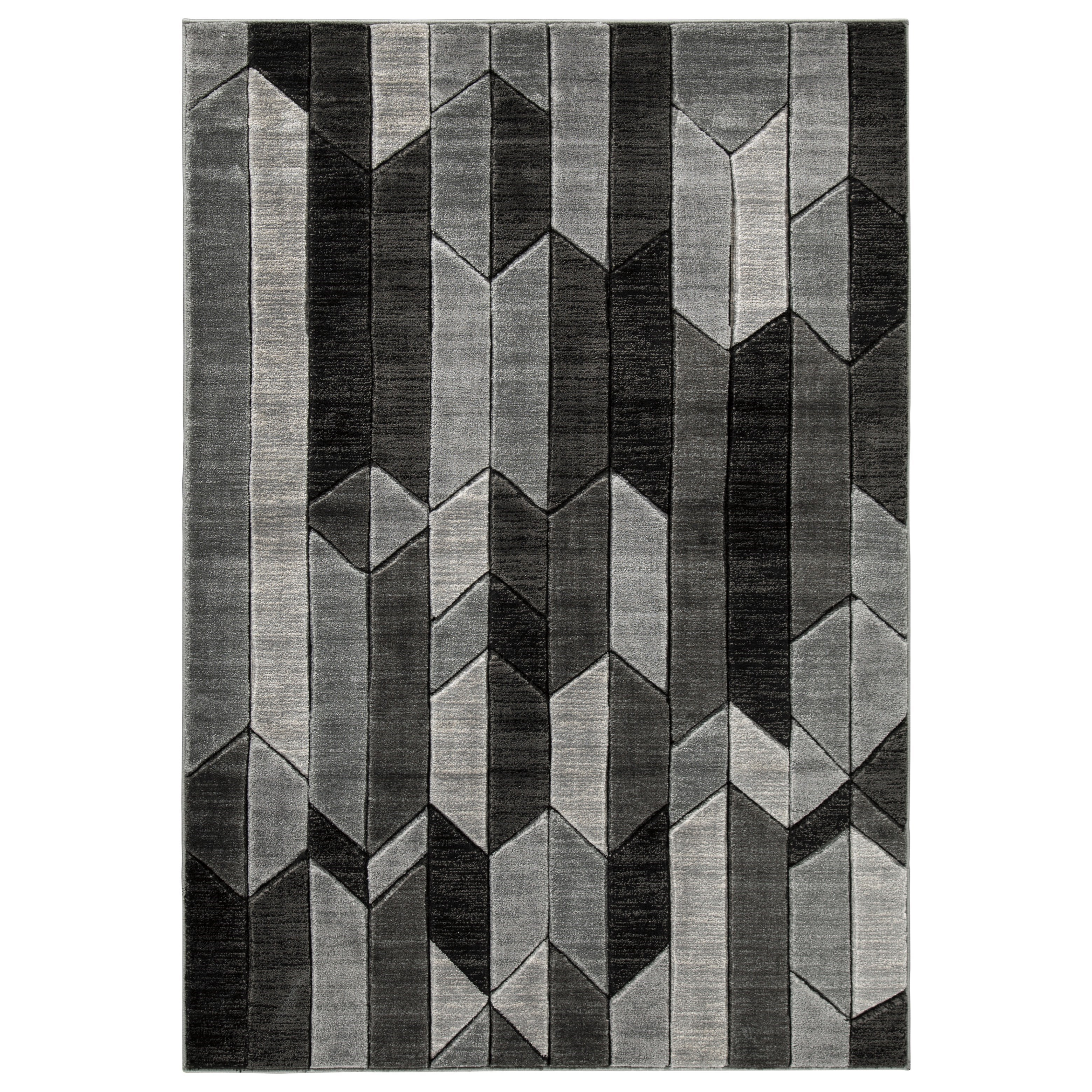 Contemporary Area Rugs Chayse Gray Large Rug