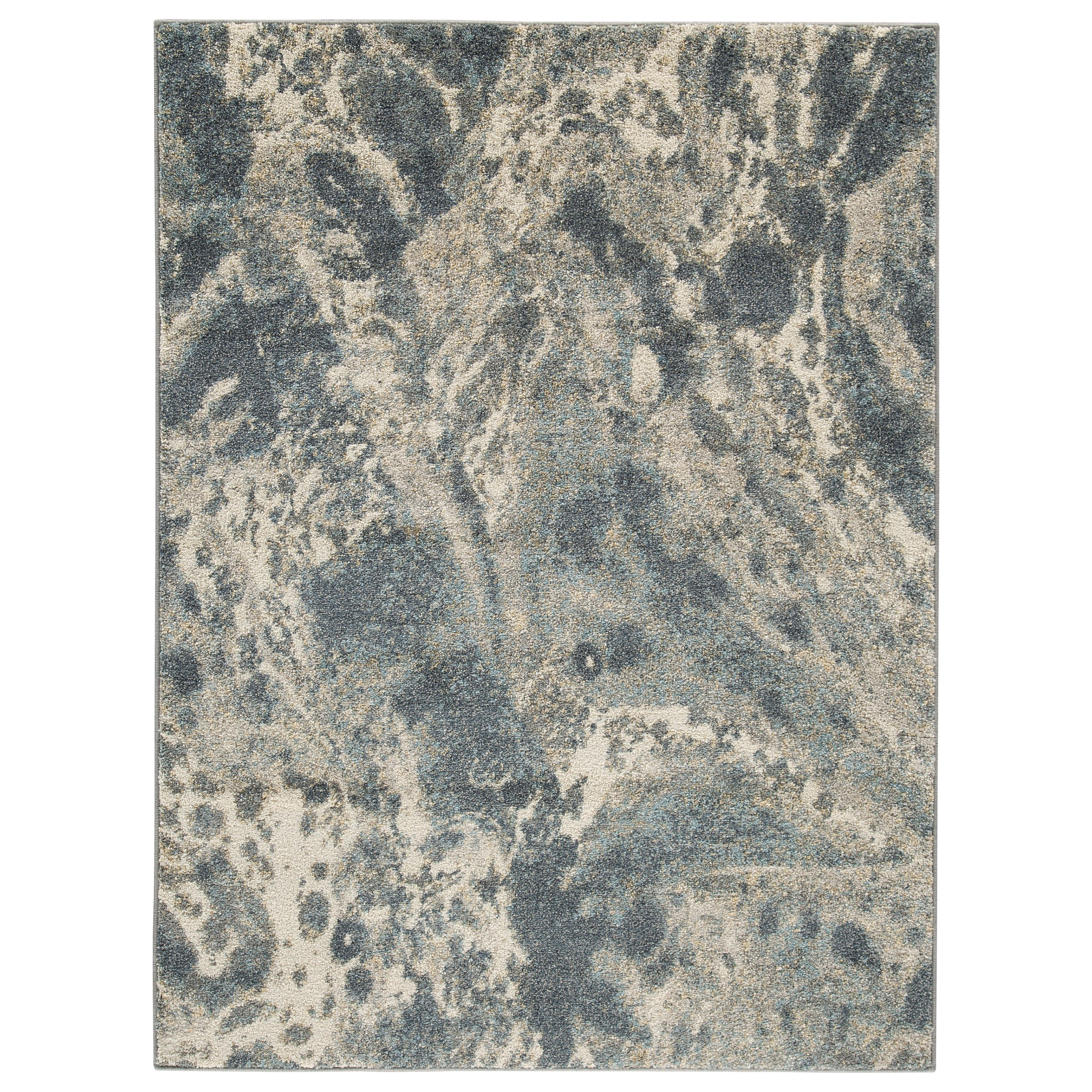 Contemporary Area Rugs Jyoti Blue Gray Tan Large Rug