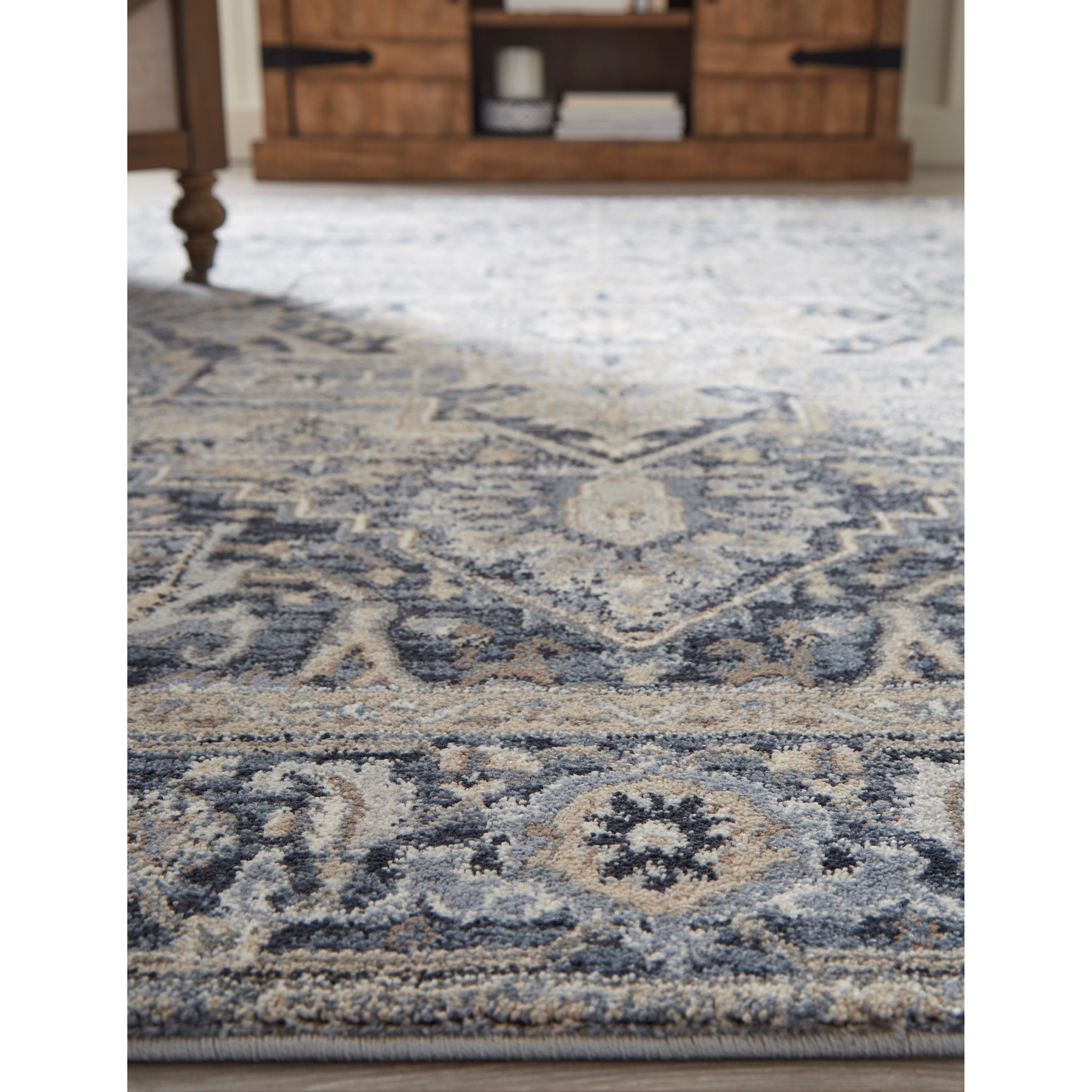 Traditional Classics Area Rugs Paretta Cream Navy Gray Large Rug