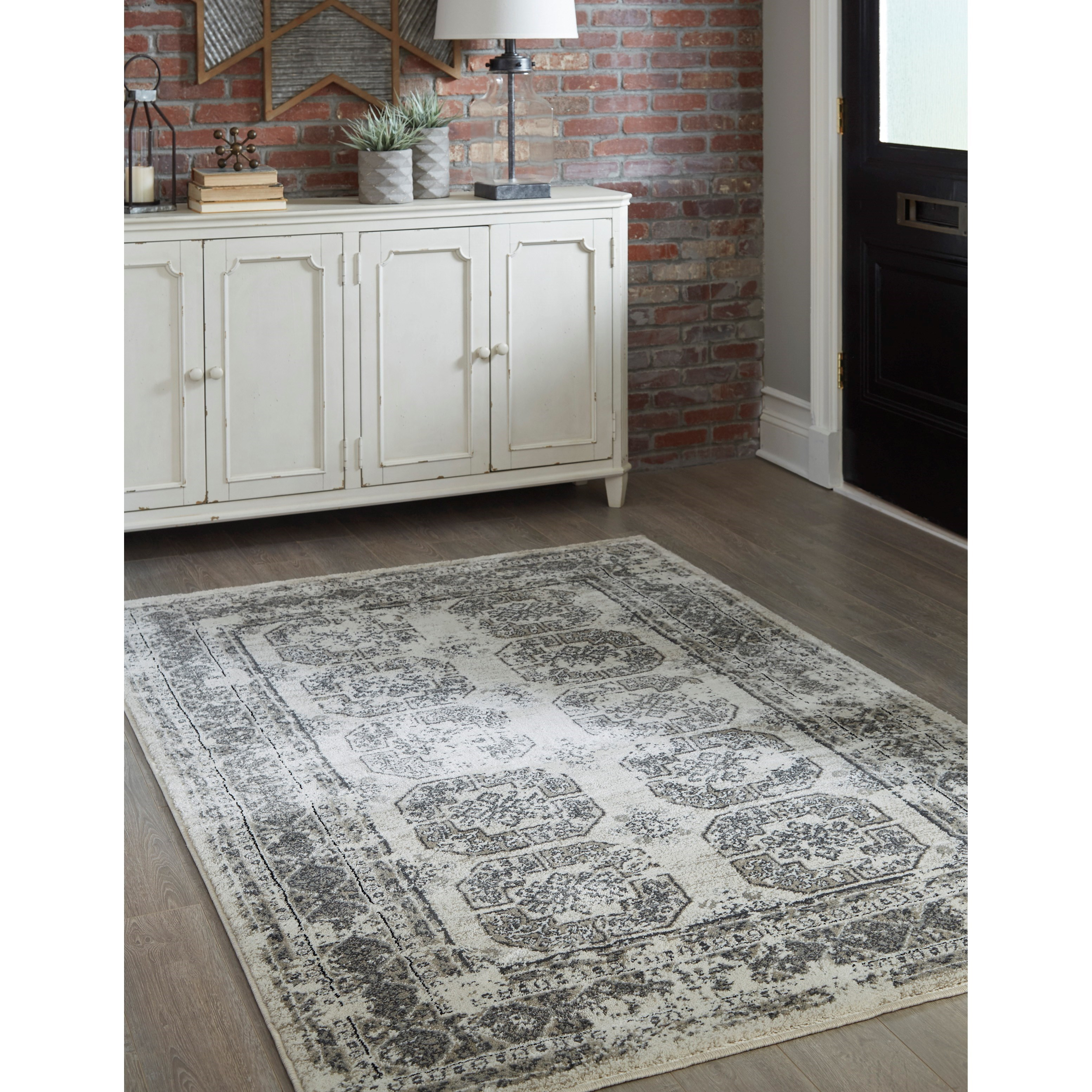 Transitional Area Rugs Jirou Gray Taupe Large Rug