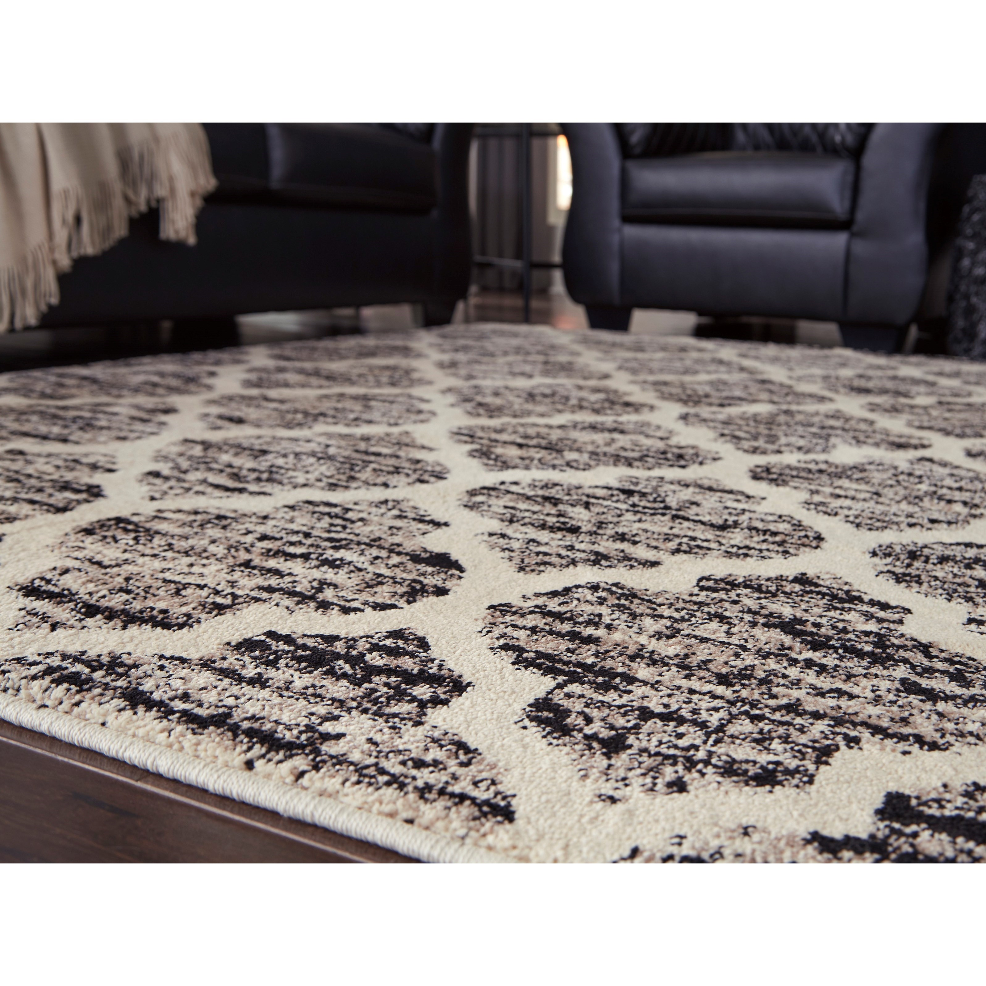 Transitional Area Rugs Kaila Black Cream Gray Large Rug