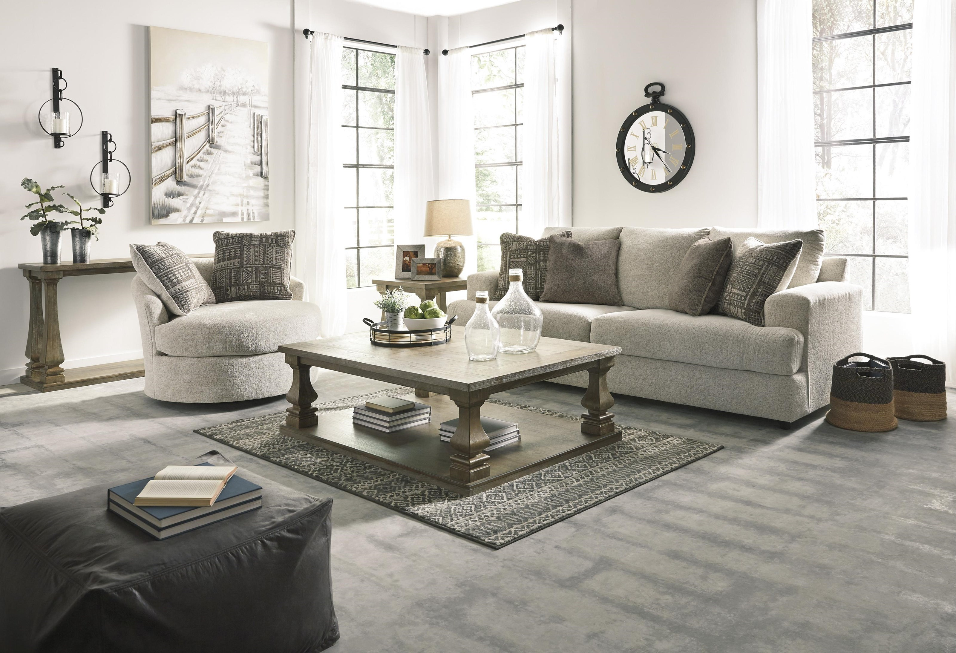 Soletren Sofa Chair And Swivel Accent Chair Set