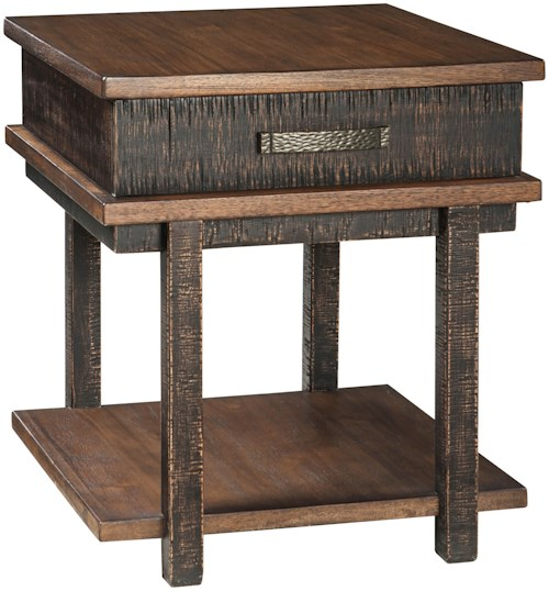 Signature design by ashley stanah rectangular end table for Furniture 0 percent financing