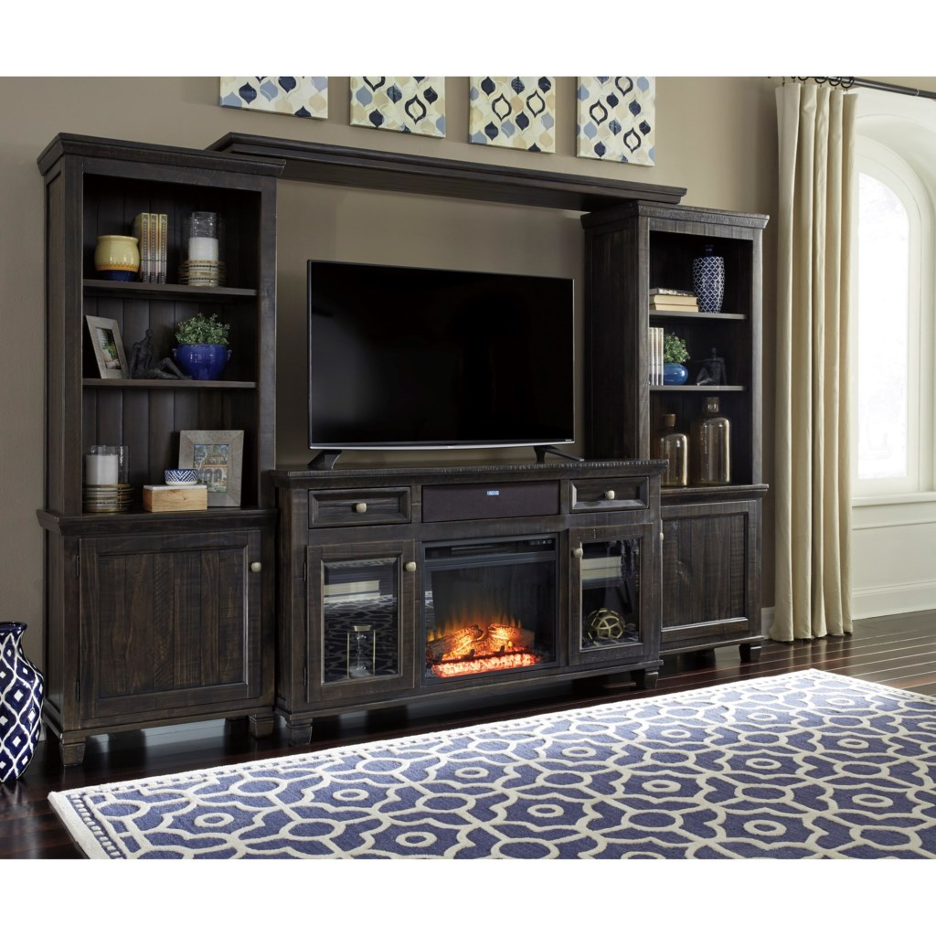 Shop for the Signature Design by Ashley Townser Entertainment Center w/ Fireplace & Speaker at Furniture Superstore - NM - Your Albuquerque