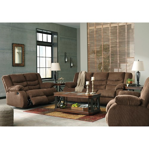 Signature Design By Ashley Tulen Reclining Living Room Group Northeast Factory Direct