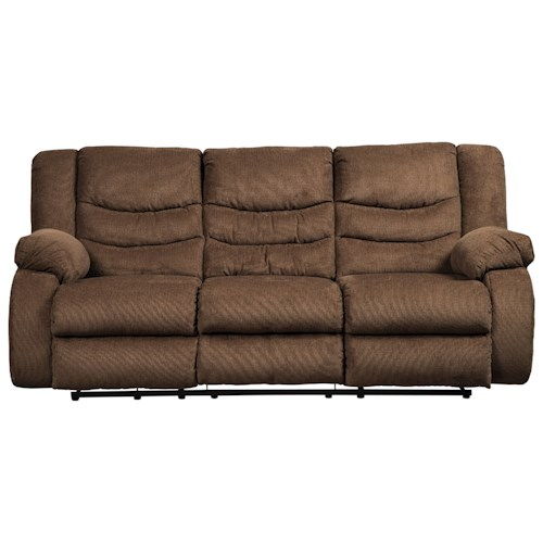 Signature design by ashley tulen 9860588 reclining sofa for Factory sofas