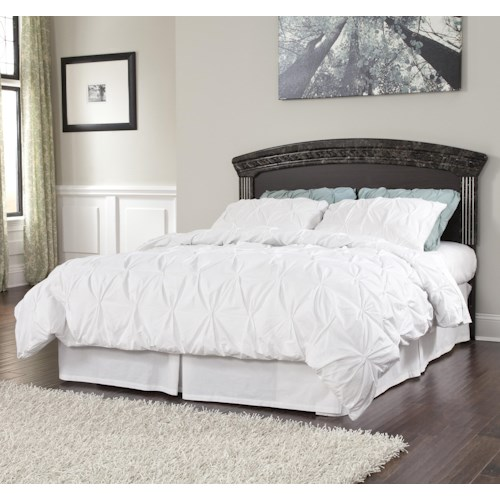 Signature design by ashley vachel traditional queen full Ashley furniture marble top bedroom set