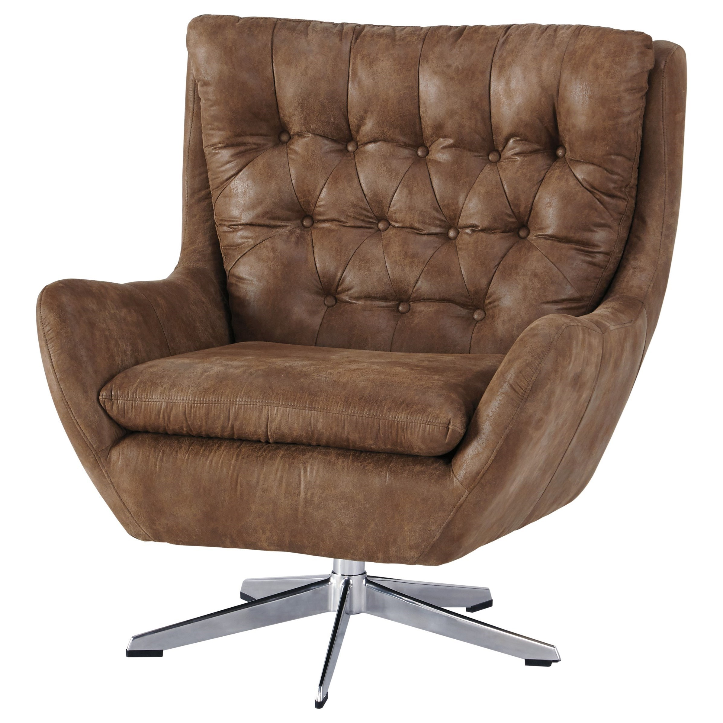 Velburg Transitional Swivel Base Accent Chair With Tufted Back By Signature Design By Ashley At Royal Furniture