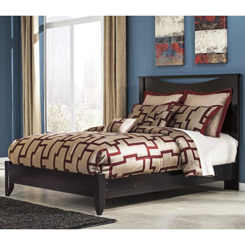 Signature Design By Ashley Zanbury Queen Bed With Low Profile Footboard Boulevard Home