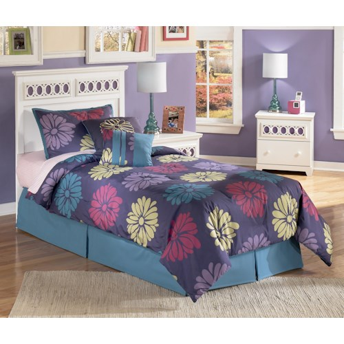 Signature Design By Ashley Zayley Twin Panel Headboard With Customizable Color Panels Rife 39 S