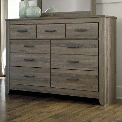 Styleline barnwood rustic tall dresser with 7 drawers efo furniture outlet dresser dunmore for Ashley wilkes bedroom collection