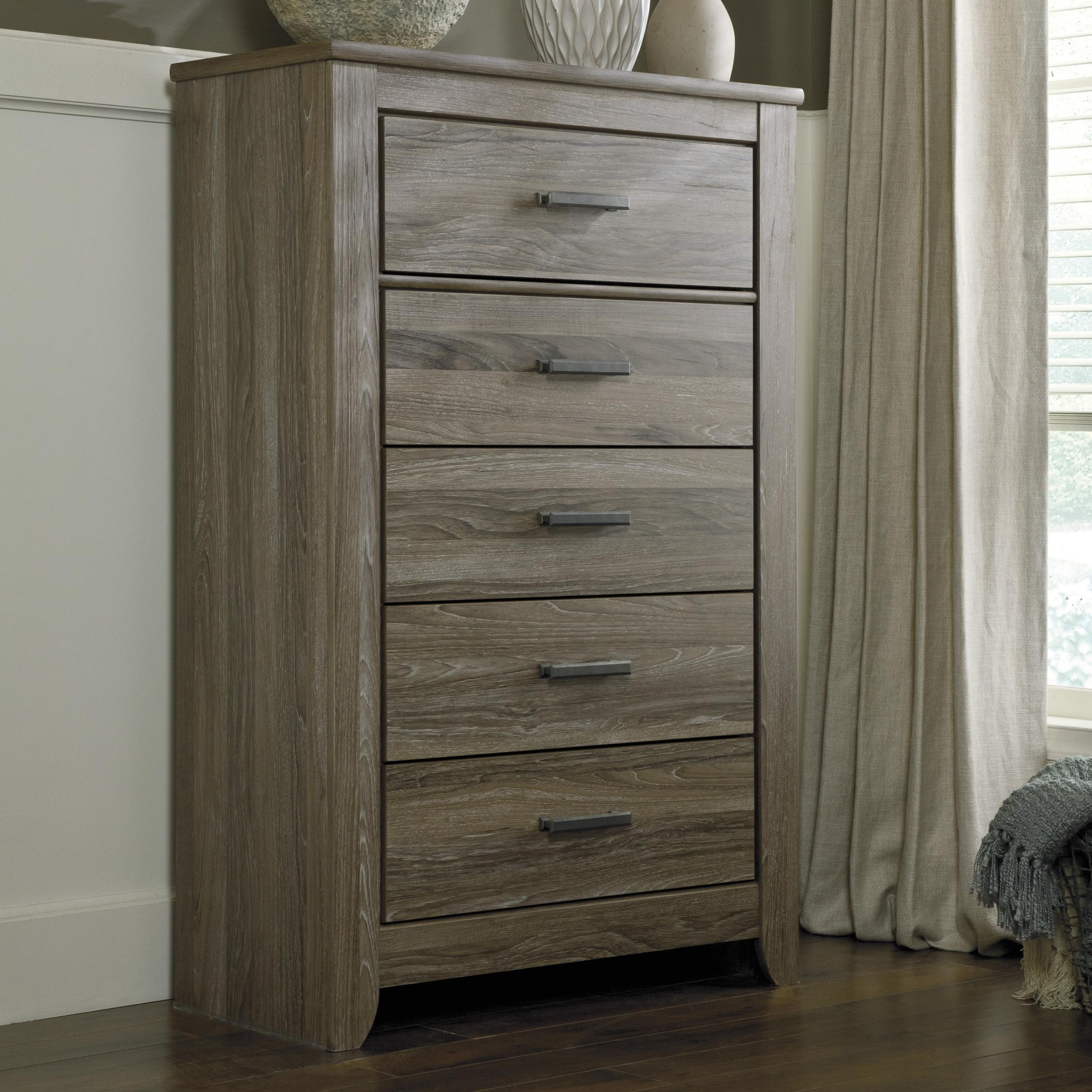 Signature Design by Ashley Zelen Rustic 5 Drawer Chest